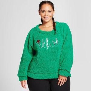 "NEW ""Elfish"" Grinch Looking Christmas Sweater"